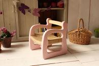 ☆赤ちゃん椅子 ami 1歳~ 国産ひのき ベビーピンク