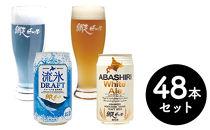 網走ビール缶【48本】セット(網走市内加工・製造)