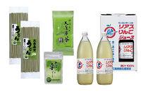 唐桑産100%リンゴジュース・大唐桑茶・うどんセット