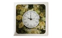 ブリザーブドフラワーで飾られた花時計