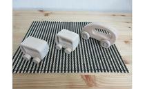 いずもく(和泉市内産木材)ヒノキの木製くるま 3台セット(大1台、小2台)