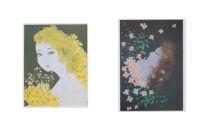 西村恭子魅惑の世界 押し花で描く美人画 オリジナルポストカード グリーンシリーズ5枚セット
