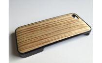 iphonese,5,5s用天然木ジャケット【ゼブラ】