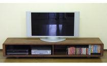 【A-CUPSOLIDウォールナット180cm】ウォールナット材総無垢のテレビボード<ウォールナット材総無垢 オイルフィニッシュ>mufactory