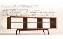 【CanvasTVボード ウォールナットtv01】バランスの良い形とシンプルさが飾る物を引き立たせるおしゃれなローボード<ウォールナット材ツキ板 オイルフィニッシュ>mufactory