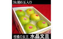 南国土佐の女王柑橘水晶文旦 3kg6玉入り