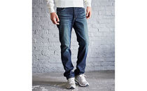(ER03-126-L)新感覚!スゴーイ楽なジャージみたいなジーンズ 「ジャージーズメンズストレート(中濃色ブルー)」