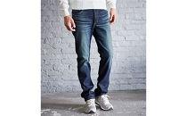 (ER03-126-XL)新感覚!スゴーイ楽なジャージみたいなジーンズ 「ジャージーズメンズストレート(中濃色ブルー)」