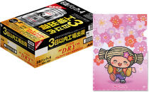 ◆みとちゃん応援ビールアサヒスーパードライ鮮度パック350ml缶24本入り+みとちゃんスペシャルホログラムファイル