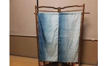 大石紬藍染めの簾 グラデーション染め