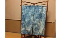 大石紬藍染めの簾 むら染め