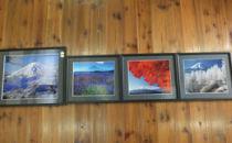 額入り富士山の四季写真