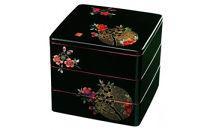 三段重箱黒おぼろ月(内朱塗)【紀州漆器】