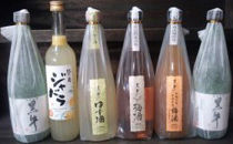 リキュール4本と純米酒2本のセット