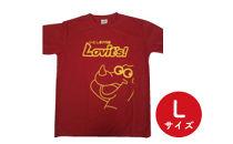いとしまPR隊 オリジナルTシャツ 赤色・Lサイズ