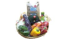 薬味野菜の里小国ふるさと野菜の詰め合わせ(お米5kg)