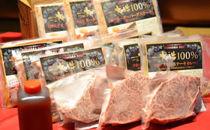 【3名様分】大田原牛 お任せフィレステーキ3枚とシチュー・カレー・生ハンバーグ各3パックの詰め合わせ