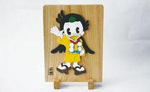 豊前市マスコットキャラクター「くぼてん」手づくり木製レリーフ
