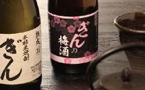 米焼酎ぎん38度&ぎんの梅酒セット