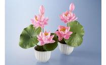 繭フラワー 蓮の花