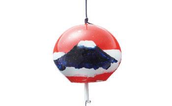 手作り硝子 みしま風鈴 富士山ペアセット