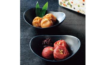 〈和歌山・紀州高田果園〉特別栽培南高梅の梅干詰合せ「奏」有田焼容器入