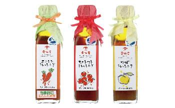 雲仙まるごとドレッシング(ゆず・にんじん・ミニトマト)と醤油の詰め合わせ