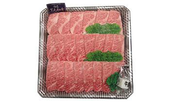 K7022-C宮城県登米産仙台黒毛和牛カルビ焼き肉用 約500g【34000pt】