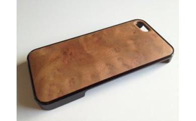 iphonese,5,5s用天然木ジャケット【楠バール】