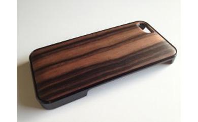 iphonese,5,5s用天然木ジャケット【黒檀】