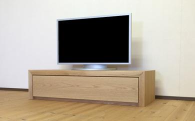扉を閉めたままでもリモコンが効く、天然木オーク材のテレビボード120cm[mu-tv58]