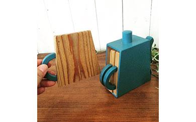 ポットの形のコースターセット 青色