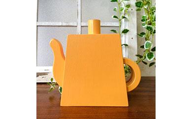 ポットの形のコースターセット 黄色