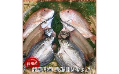 れんこ鯛・かます・あじの干物(夫婦開き)のセット(漁師直送)/岡岩商店
