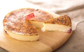 濃厚な美味しさで25年ベストセラー 御献上チーズケーキ(1ホール:直径約15㎝)