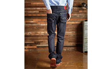 (ER03-100-XS)新感覚!スゴーイ楽なジャージみたいなジーンズ 「ジャージーズメンズストレート(濃色ブルー)」
