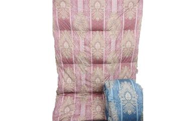 ハンガリー羽毛・2層式/羽毛掛け布団(ピンク・ダブル) 国産品・品質保証 カバー付き
