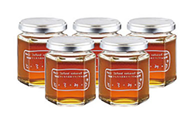 琥珀色の誘惑日本蜜蜂のハチミツ「とろみつ」5本セット