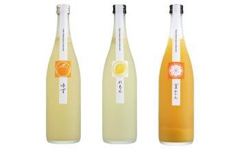 鶴梅 柚子・檸檬・夏蜜柑 柑橘リキュール 720ml 3本セット