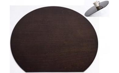 木製ランチョンマット黒檀調(ノンスリップ)【紀州漆器】