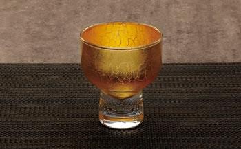 純金箔冷酒グラス 内金