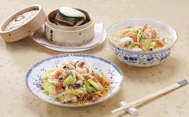 具材付き長崎ちゃんぽん皿うどん(揚麺)角煮まんじゅう詰合せ