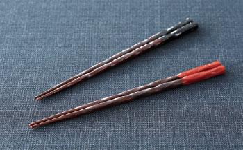 木曽塗荒けずり箸(2色組)