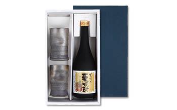 「笠間の栗焼酎 十三天狗の伝説」と「笠間焼」セット