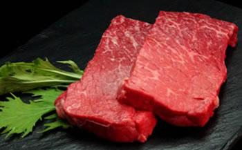 大田原牛の上赤身ステーキ肉を見てみる