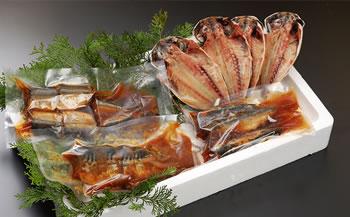 【数量限定】青魚煮つけ+真あじ干物セット