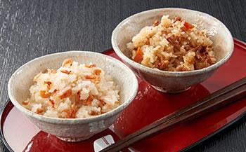 高足ガニ炊込みご飯と桜えび炊込みご飯セット