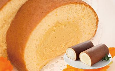 ロールケーキ2本セット(種子島産安納いも&黒糖)(N012SM-C)